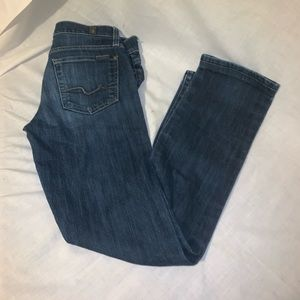 7 for all mankind straight leg jeans size 25